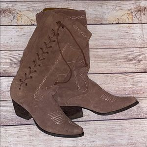 Reba suede leather boots
